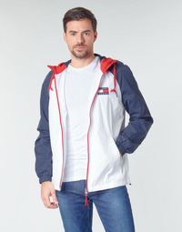 vaatteet Miehet Pusakka Tommy Jeans TJM COLORBLOCK ZIPTHROUGH JCKT White / Blue / Red