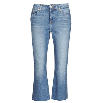 vaatteet Naiset Suorat farkut Tommy Jeans KATIE CROP FLARE Sininen