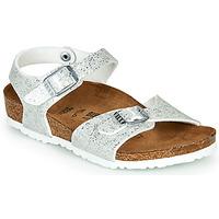 kengät Tytöt Sandaalit ja avokkaat Birkenstock RIO Hopea