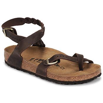 kengät Naiset Sandaalit ja avokkaat Birkenstock YARA LEATHER Brown
