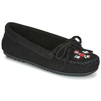 kengät Naiset Mokkasiinit Minnetonka THUNDERBIRD II Musta