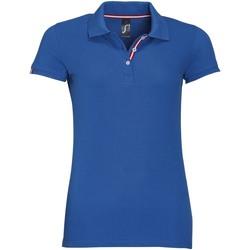 vaatteet Naiset Lyhythihainen poolopaita Sols PATRIOT FASHION WOMEN Azul
