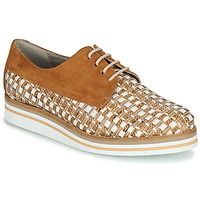 kengät Naiset Derby-kengät Dorking ROMY Ruskea / Valkoinen