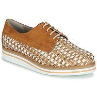 kengät Naiset Derby-kengät Dorking ROMY Brown / White