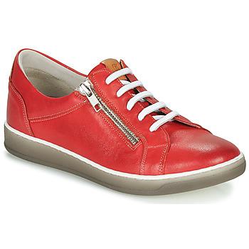 kengät Naiset Matalavartiset tennarit Dorking KAREN Red / Beige