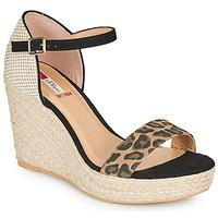 kengät Naiset Sandaalit ja avokkaat S.Oliver NOULATI Black / Leopardi