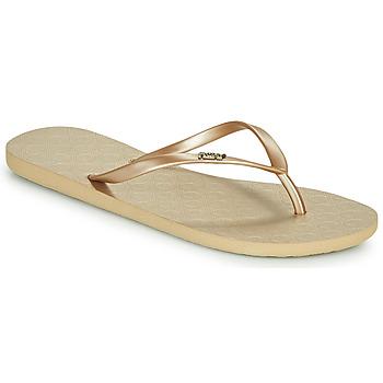 kengät Naiset Varvassandaalit Roxy VIVA V Kulta