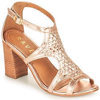 kengät Naiset Sandaalit ja avokkaat Ravel COREEN Pink / Kulta