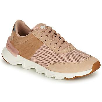 kengät Naiset Matalavartiset tennarit Sorel KINETIC LITE LACE Beige / Pink