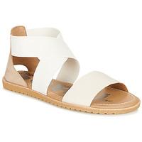kengät Naiset Sandaalit ja avokkaat Sorel ELLA SANDAL White / Beige