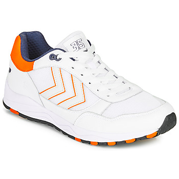 kengät Miehet Matalavartiset tennarit Hummel 3-S SPORT White / Orange