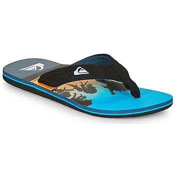 kengät Miehet Varvassandaalit Quiksilver MOLOKAI LAYBACK Sininen / Musta