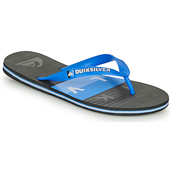 kengät Miehet Varvassandaalit Quiksilver MOLOKAI WOLRDBLOCK Sininen / Musta