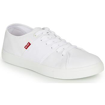 kengät Miehet Matalavartiset tennarit Levi's PILLSBURY White