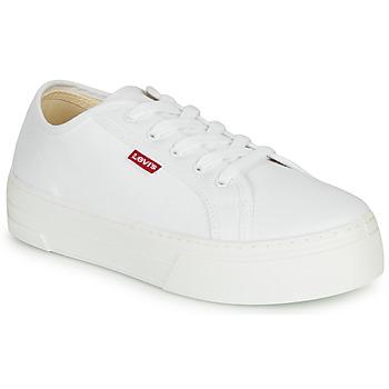 kengät Naiset Matalavartiset tennarit Levi's TIJUANA White