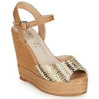 kengät Naiset Sandaalit ja avokkaat Les Petites Bombes PAOLA Beige