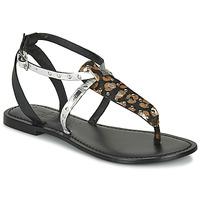 kengät Naiset Sandaalit ja avokkaat Les Petites Bombes ALIX Musta / Hopea