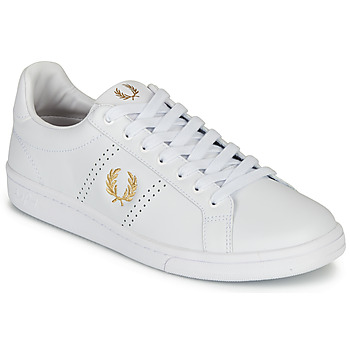 kengät Miehet Matalavartiset tennarit Fred Perry B721 LEATHER White