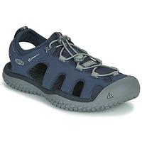 kengät Miehet Urheilusandaalit Keen SOLR SANDAL Blue / Grey