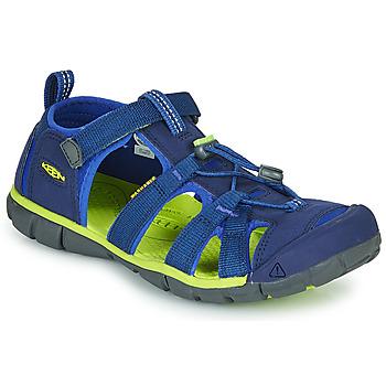 kengät Lapset Urheilusandaalit Keen SEACAMP II CNX Blue / Green