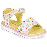 kengät Tytöt Sandaalit ja avokkaat Agatha Ruiz de la Prada SMILES White / Monivärinen