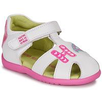 kengät Tytöt Sandaalit ja avokkaat Agatha Ruiz de la Prada HAPPY White / Pink