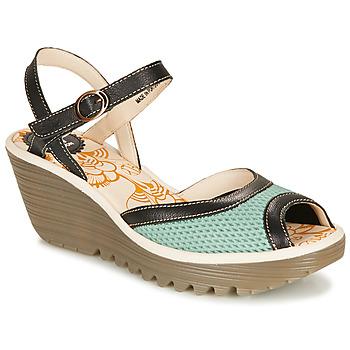 kengät Naiset Sandaalit ja avokkaat Fly London YANS Blue / Black