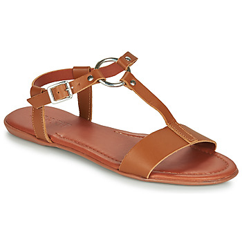 kengät Naiset Sandaalit ja avokkaat Esprit KONA T STRAP Cognac