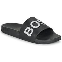 kengät Miehet Rantasandaalit BOSS BAY SLID RBLG Black / White