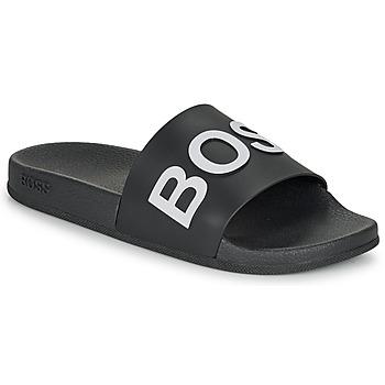kengät Miehet Rantasandaalit BOSS BAY SLID RBLG Musta / Valkoinen