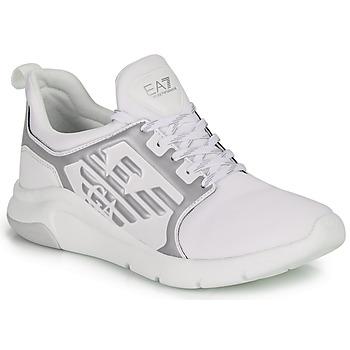 kengät Matalavartiset tennarit Emporio Armani EA7 RACER REFLEX CC White / Hopea