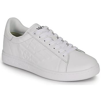 kengät Matalavartiset tennarit Emporio Armani EA7 CLASSIC NEW CC White