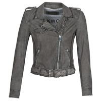 vaatteet Naiset Nahkatakit / Tekonahkatakit Oakwood PLEASE Grey