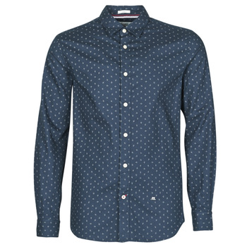 vaatteet Miehet Pitkähihainen paitapusero Pepe jeans ADAN Laivastonsininen