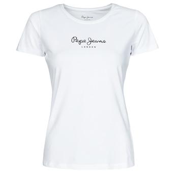 vaatteet Naiset Lyhythihainen t-paita Pepe jeans NEW VIRGINIA Valkoinen