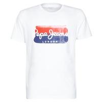 vaatteet Miehet Lyhythihainen t-paita Pepe jeans MILBORN White
