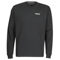vaatteet Miehet T-paidat pitkillä hihoilla Patagonia M's L/S P-6 Logo Responsibili-Tee Black