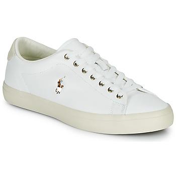 kengät Miehet Matalavartiset tennarit Polo Ralph Lauren LONGWOOD-SNEAKERS-VULC White