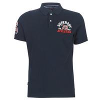 vaatteet Miehet Lyhythihainen t-paita Superdry CLASSIC SUPERSTATE S/S POLO Sininen