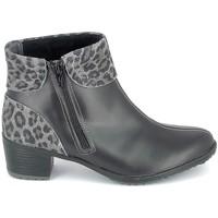 kengät Naiset Nilkkurit Boissy Boots Noir Leopard Musta