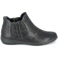 kengät Naiset Bootsit Boissy Boots Noir texturé Musta
