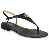 kengät Naiset Sandaalit ja avokkaat Lauren Ralph Lauren ELLINGTON SANDALS CASUAL Musta