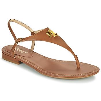 kengät Naiset Sandaalit ja avokkaat Lauren Ralph Lauren ELLINGTON SANDALS CASUAL Cognac