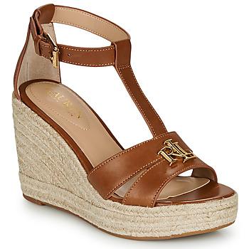 kengät Naiset Sandaalit ja avokkaat Lauren Ralph Lauren HALE ESPADRILLES CASUAL Cognac