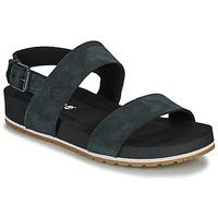 kengät Naiset Sandaalit ja avokkaat Timberland Malibu Waves 2Band Sandal Black