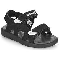 kengät Lapset Sandaalit ja avokkaat Timberland PERKINS ROW 2-STRAP Musta
