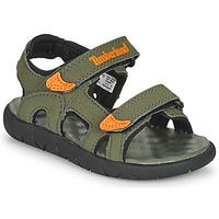kengät Lapset Sandaalit ja avokkaat Timberland PERKINS ROW 2-STRAP Green / Orange