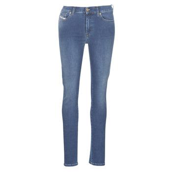 vaatteet Naiset Slim-farkut Diesel D-ROISIN Blue / 085ab