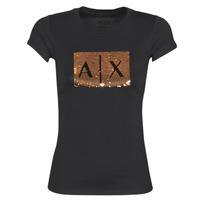 vaatteet Naiset Lyhythihainen t-paita Armani Exchange HONEY Black