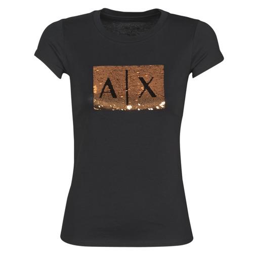 vaatteet Naiset Lyhythihainen t-paita Armani Exchange HONEY Musta